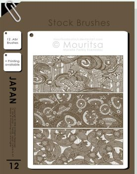 Brush Pack - Japan Culture and Art by MouritsaDA-Stock