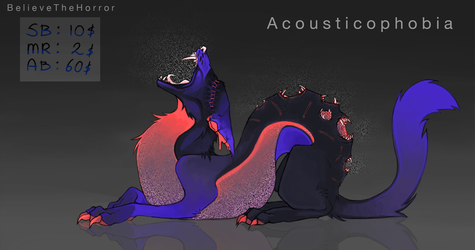 [CLOSED] Adopt Auction : Acousticophobia by BelieveTheHorror