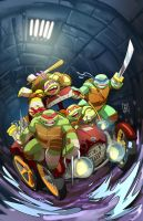 TMNT cover color by Fpeniche
