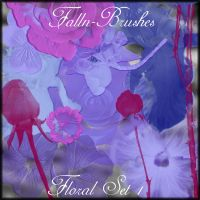 Floral Brushes Set 1 by Falln-Stock