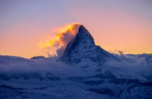 Matterhorn on Fire by orestART