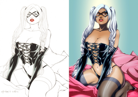 Black Cat by Da Costa, colors by JP by Dualmask