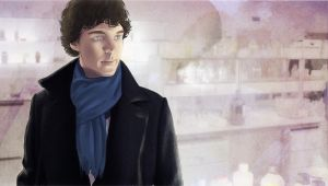 Sherlock first meeting with Watson (color) by AzurLazuly