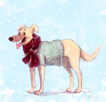 snow pup by KarlyMacDonald