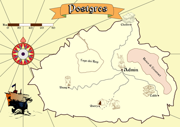 Postgres - a fantasy map by shadowtheater