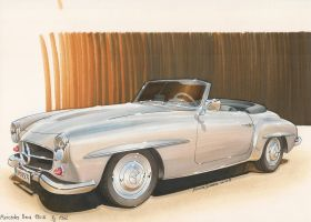 Mercedes 190 SL by DominikScherrer