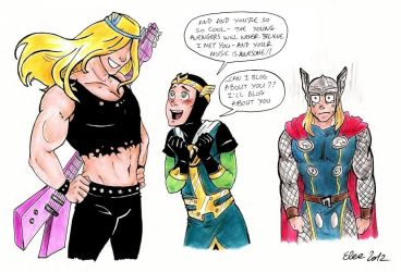 Loki is a raging Fangirl by ChocolateIsForever