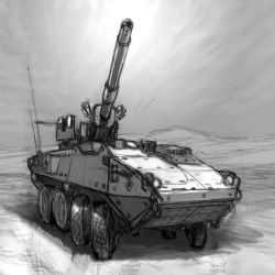 M1128 MGS by hylajaponica