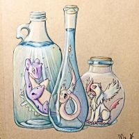 Shiny Pokemon In Jars by Sakuragirl08
