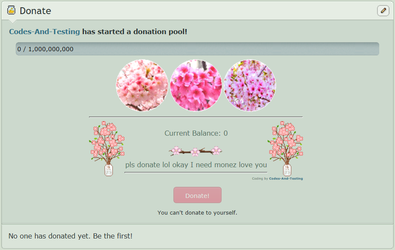 Pink Flowers (Donation) (F2U) (NON-CORE) by Codes-And-Testing