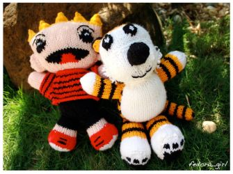 Calvin and Hobbes by fedoragirl