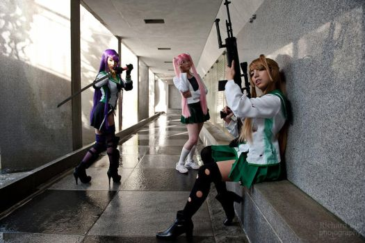 Highschool of the Dead Girls by VampBeauty