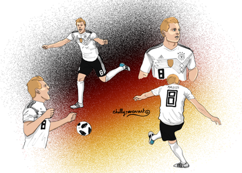 Toni Kroos - Germany by chillyravenart