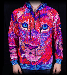 Kaleidoscopic King Ravenectar Hoodie by PaintMyWorldRainbow