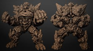 Fire Golem WIP by cbinder