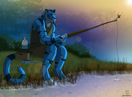Fishing at Dawn by Songficcer