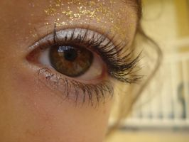 Silver and Gold Eye stock 4 by Capoodra-StockImages