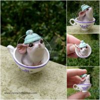 Tea Mouse Ornament by MysticReflections