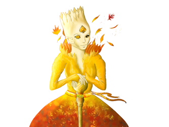 Autumn - Queen of Spades and Wind by NikaStryx