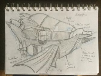 Airship design #1 by MysteriousWarrior123