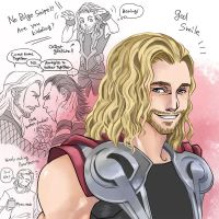 Thor Scribble by getakichi