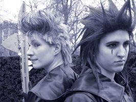 Demyx and Axel headshots by KellyJane