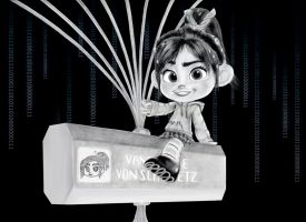 Vanellope - In the code room by artistsncoffeeshops