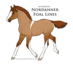 Red Dun Roan Tobiano Snowflake Brindle by Allicorn