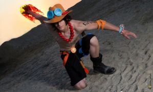 One Piece Cosplay Fire Fist Ace by RedAceCosplay