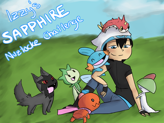 Izzy's Sapphire Nuzlocke Challenge Cover by MeowMix72