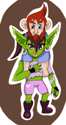 Goblin and Gnome by TheLittledDemonCat