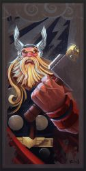 Avengers Card Thor by frogbillgo