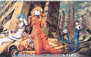 Eva desktop on Mac OS X by kuroi-kai-den84