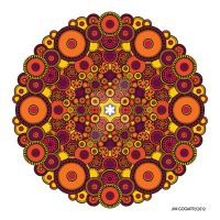 Mandala drawing 37 Coloured v1 by Mandala-Jim