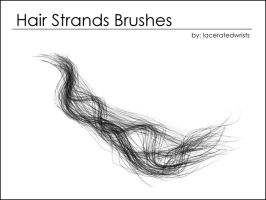 Hair Strands Brushes by laceratedwristsstock
