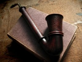 Fili's pipe red (functional) by Arcangelo-Ambrosi