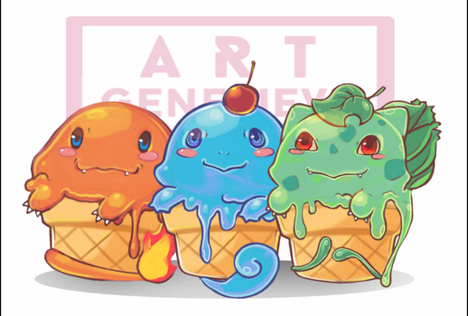 Ice-cream pokemon by 99g3ny99
