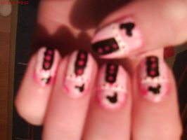 Mickey Mouse Nail Design by AnyRainbow
