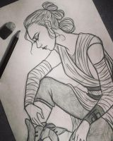 Rey sketch by 7Lisa