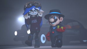 Strolling Out with OSO Blue [Splatoon SFM] by Geoffman275