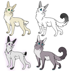 Open Adopts! #1 by MintyCatwolfDA