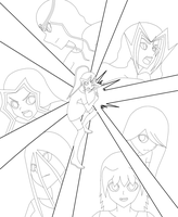 Yu-Gi-Oh New Generation- Lineart by VongolaSky27