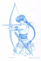 COMMISSION: Combat Kagome by KrisCynical