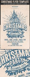 Christmas Party Flyer Template by Hotpindesigns