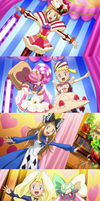 Serena, Bonnie and Diancie's Outfit Dresses