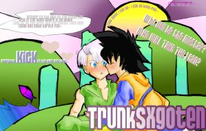 +Kung Fuu Beat+ Trunks x Goten by PrinceAmongThieves