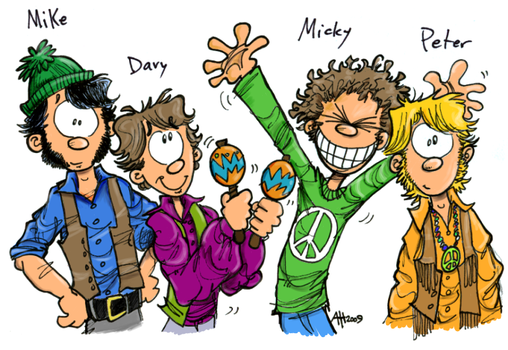 Hey Hey We're the Monkees Color by hankinstein