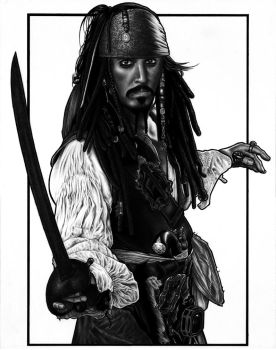 Captain Jack Sparrow by DMThompson