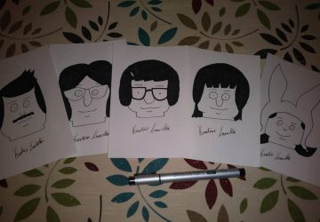 Bob's Burgers Lego Heads by optimusartistry