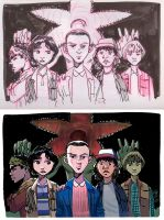 stranger things_mike's gang by FabianCobos